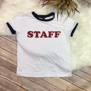 "Forever 21 ""Staff"" Graphic Tee Size M"